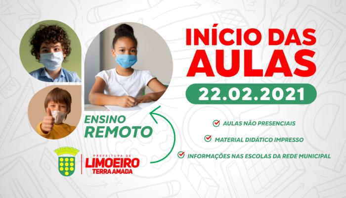 Aulas da Rede Municipal de Limoeiro começam no dia 22 de fevereiro na modalidade remota